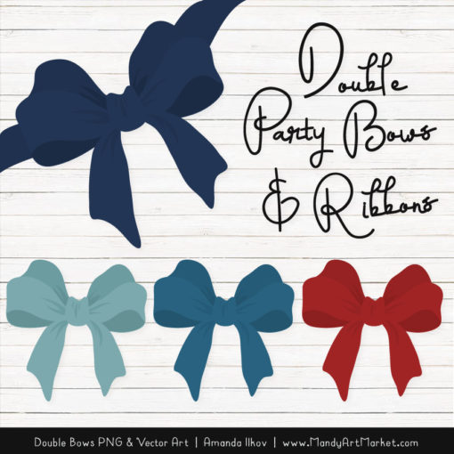 Free Americana Party Bow Clipart