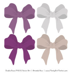 Free Amethyst Party Bow Clipart