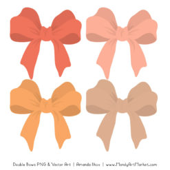 Free Antique Peach Party Bow Clipart