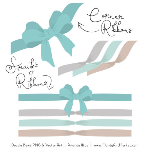 Free Aqua Party Bow Clipart