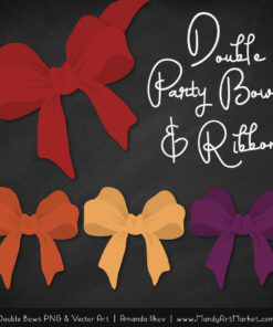 Free Autumn Party Bow Clipart