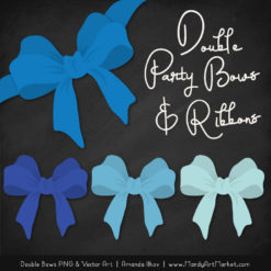Free Blue Party Bow Clipart