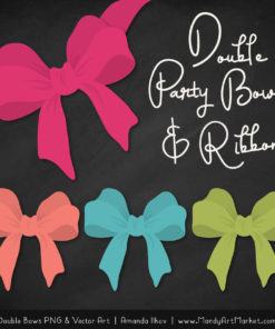 Free Bohemian Party Bow Clipart