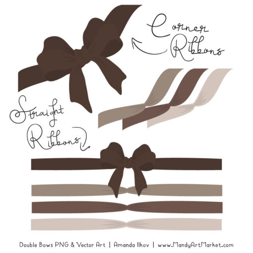 Free Brown Party Bow Clipart
