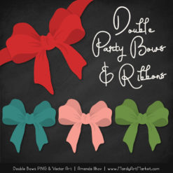 Free Cherry Bomb Party Bow Clipart