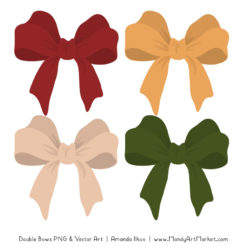 Free Christmas Party Bow Clipart