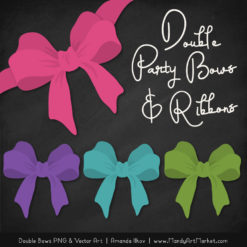 Free Crayon Box Girl Party Bow Clipart