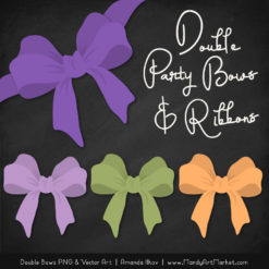 Free Crocus Party Bow Clipart
