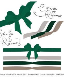 Free Emerald Party Bow Clipart