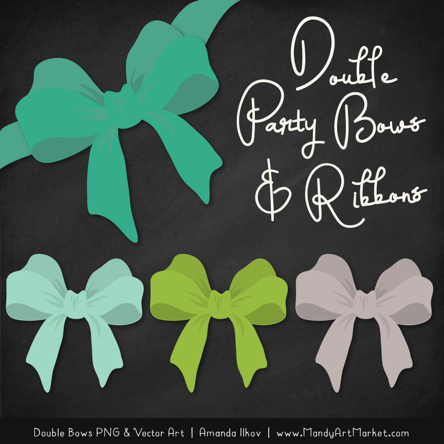 Free Emerald Isle Party Bow Clipart