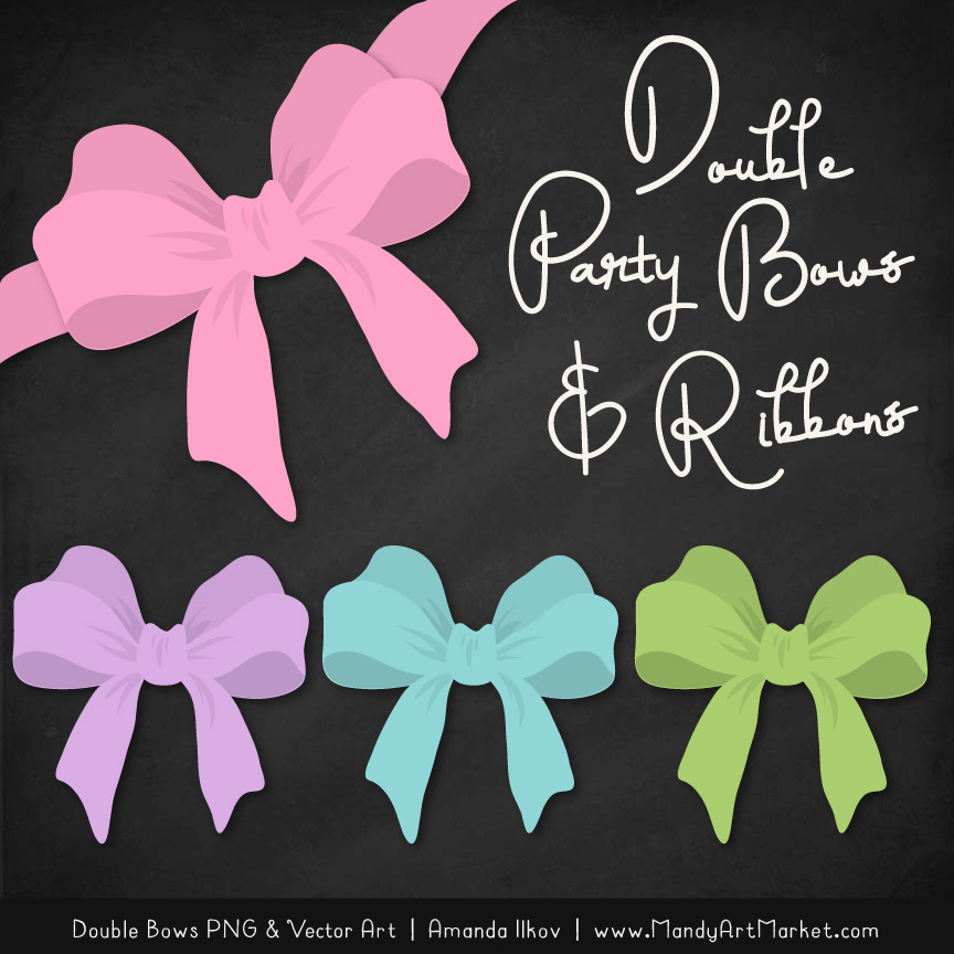 Free Fresh Girl Party Bow Clipart