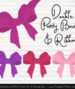 Free Fuchsia Party Bow Clipart