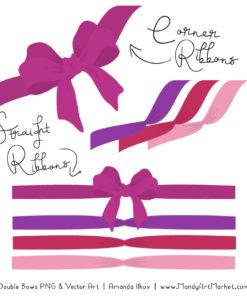 Free Fuchsia Party Bow Clipart