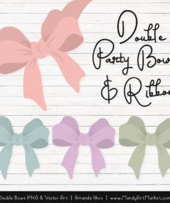 Free Grandmas Garden Party Bow Clipart