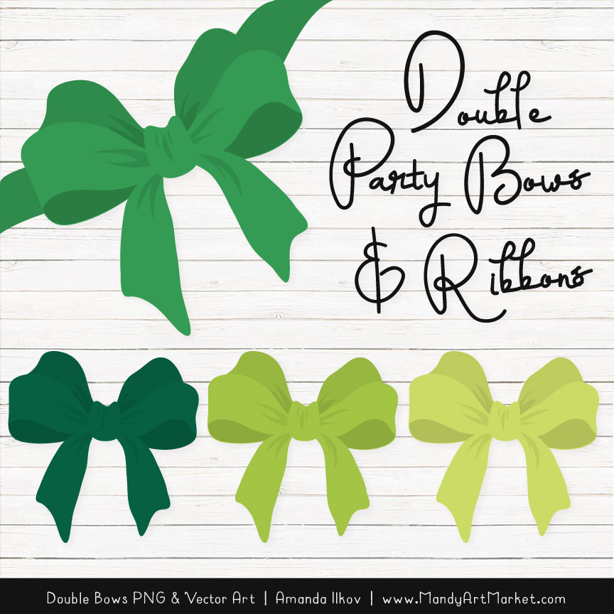 Free Green Party Bow Clipart