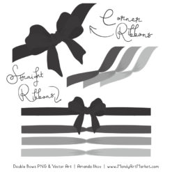 Free Grey Party Bow Clipart
