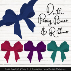 Free Jewel Party Bow Clipart