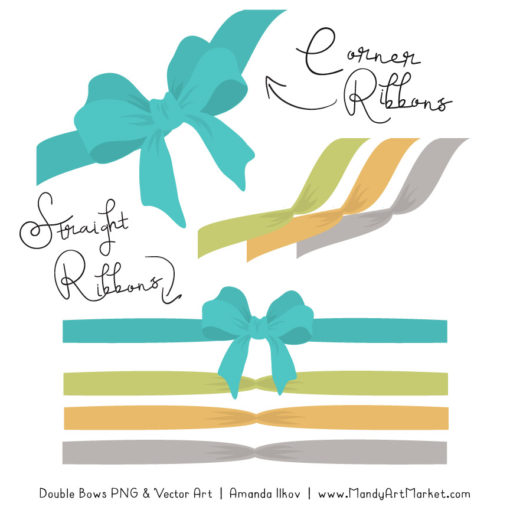 Free Land & Sea Party Bow Clipart