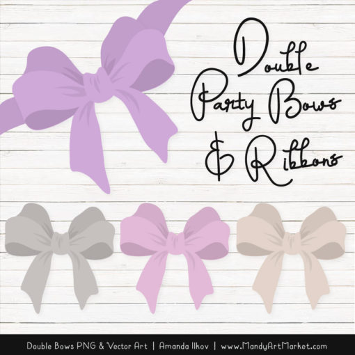 Free Lavender Party Bow Clipart