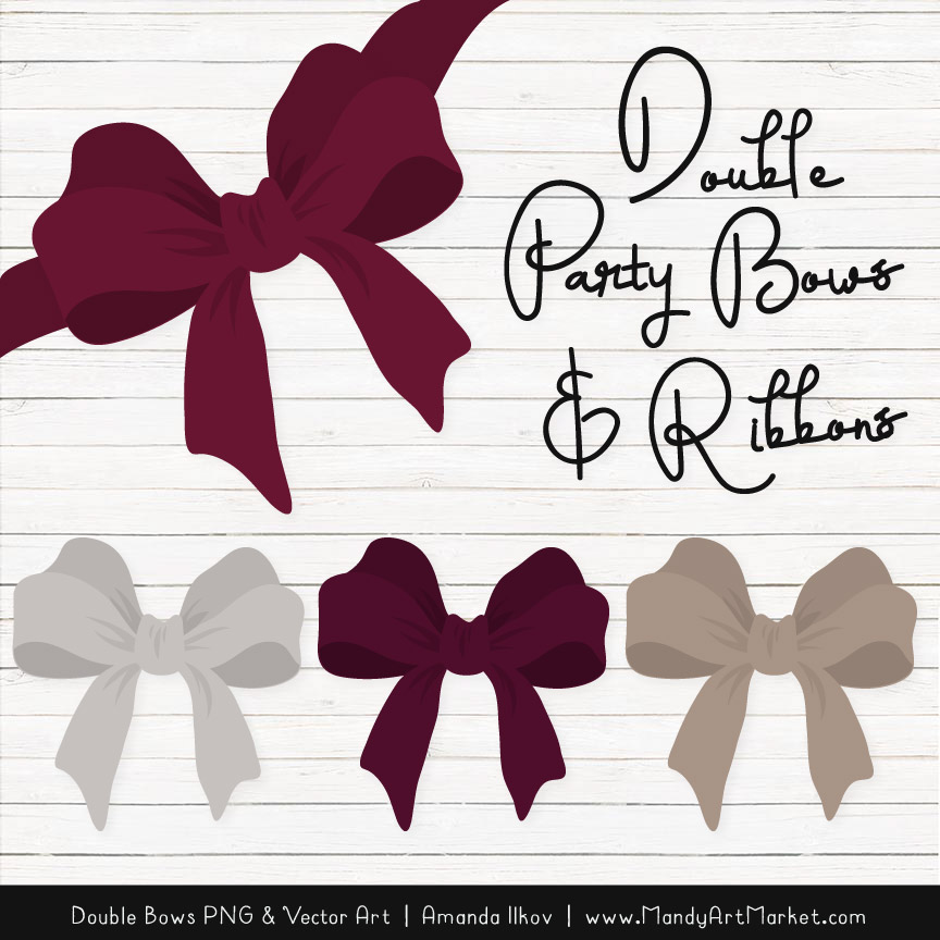 Free Merlot Party Bow Clipart