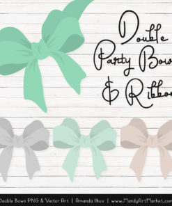 Free Mint Party Bow Clipart