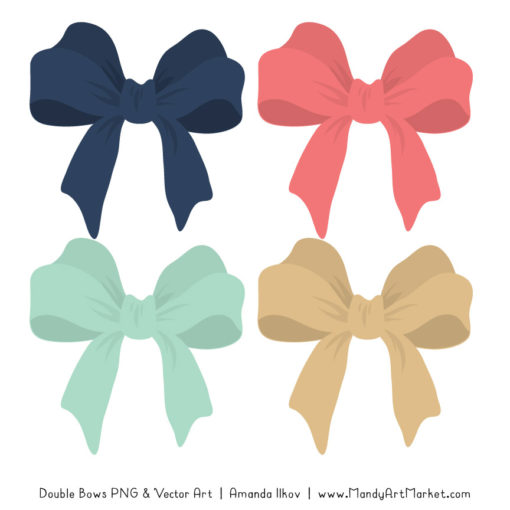 Free Modern Chic Party Bow Clipart