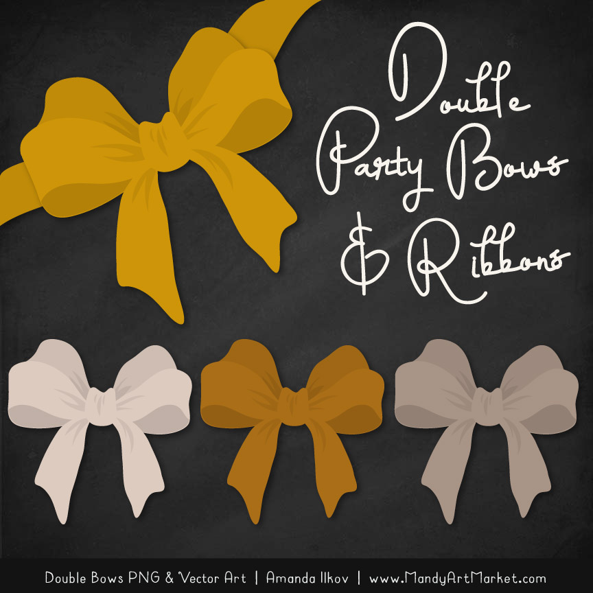 Free Mustard Party Bow Clipart