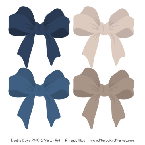 Free Navy Party Bow Clipart