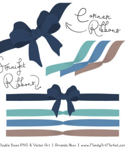 Free Oceana Party Bow Clipart