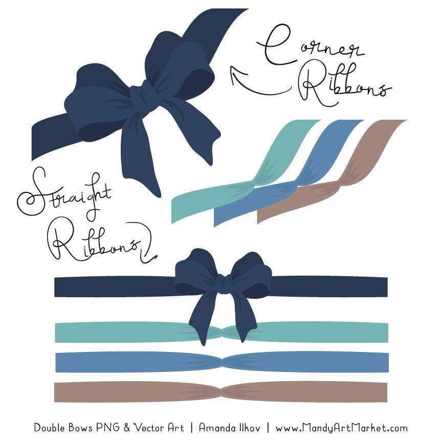 Free Oceana Party Bow Clipart