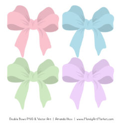 Free Pastel Party Bow Clipart