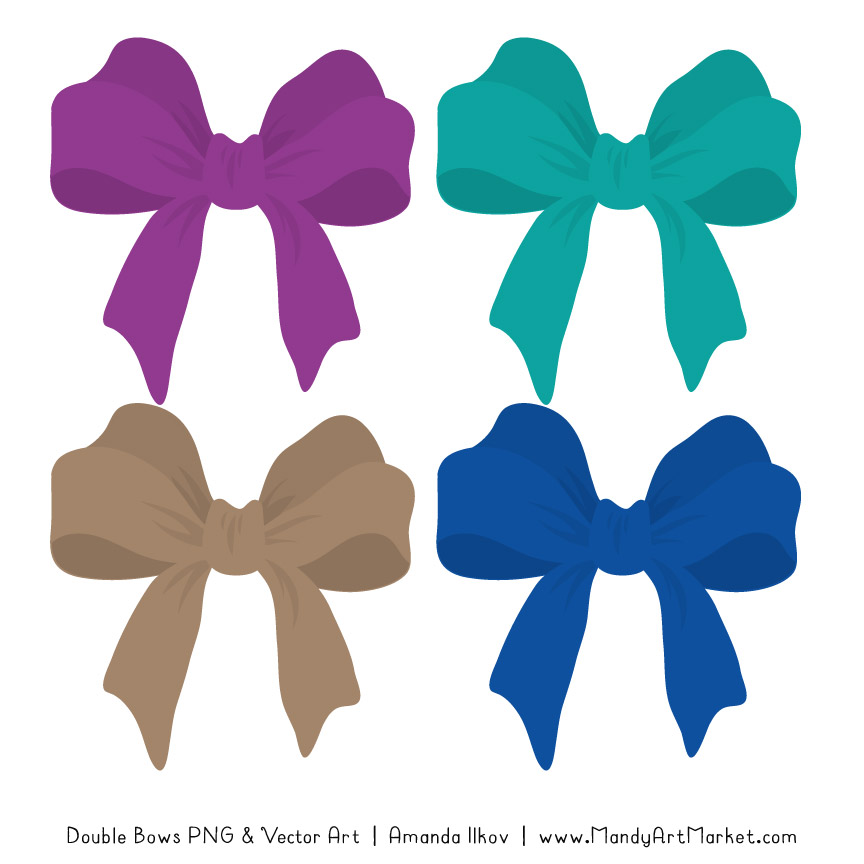 Free Peacock Party Bow Clipart
