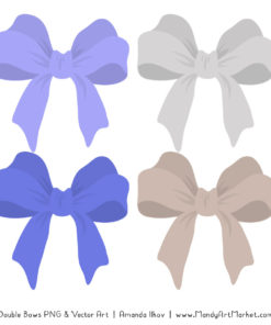 Free Periwinkle Party Bow Clipart