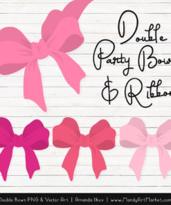 Free Pink Party Bow Clipart