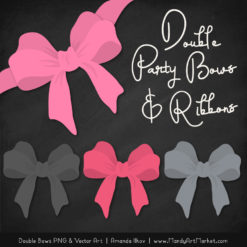 Free Pink & Pewter Party Bow Clipart