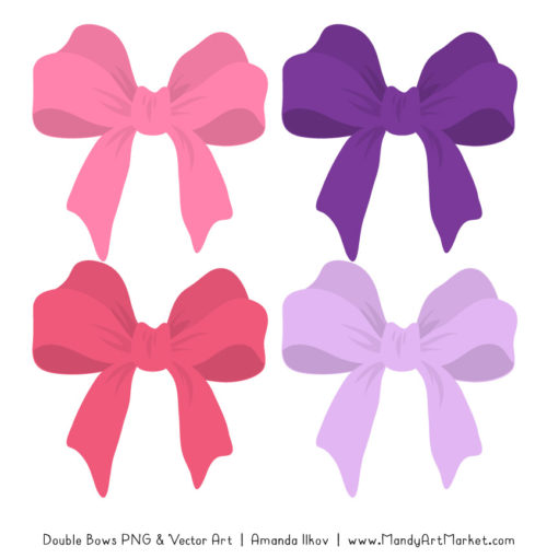 Free Pink & Purple Party Bow Clipart