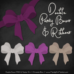 Free Plum Party Bow Clipart