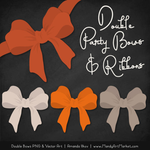 Free Pumpkin Party Bow Clipart