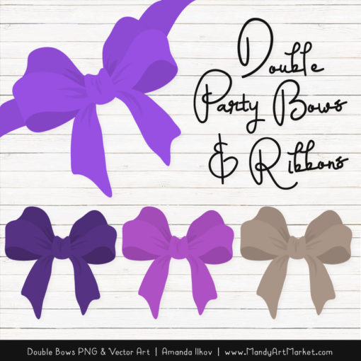 Free Purple Party Bow Clipart