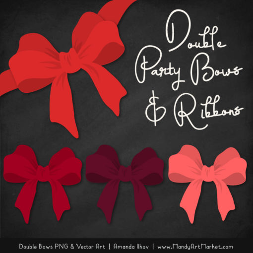Free Red Party Bow Clipart