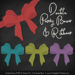 Free Retro Bold Party Bow Clipart