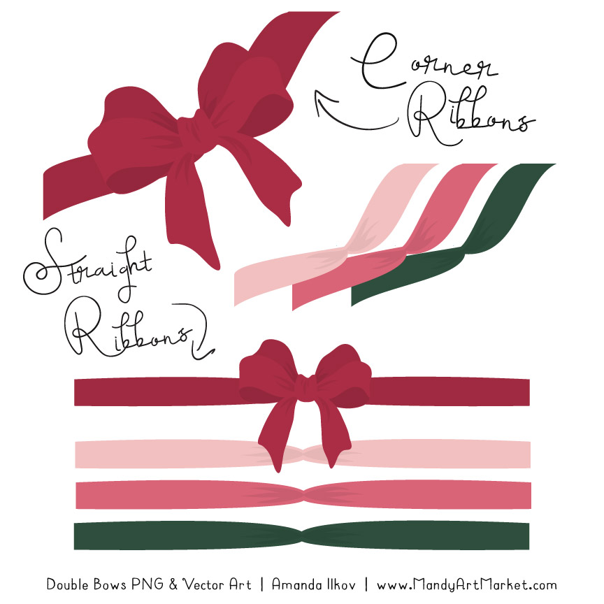Free Rose Garden Party Bow Clipart