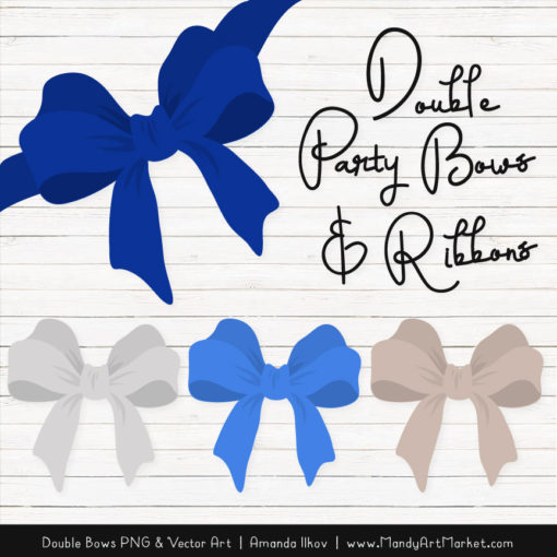Free Royal Blue Party Bow Clipart