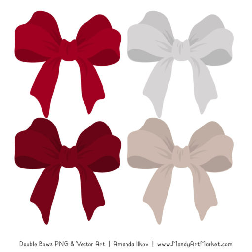 Free Ruby Party Bow Clipart
