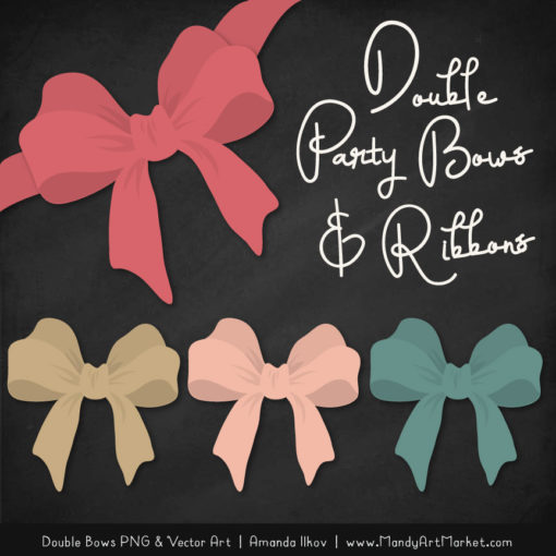Free Soft Christmas Party Bow Clipart