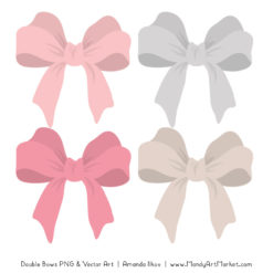 Free Soft Pink Party Bow Clipart
