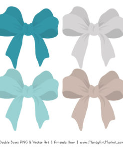 Free Vintage Blue Party Bow Clipart