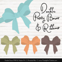 Free Vintage Boy Party Bow Clipart