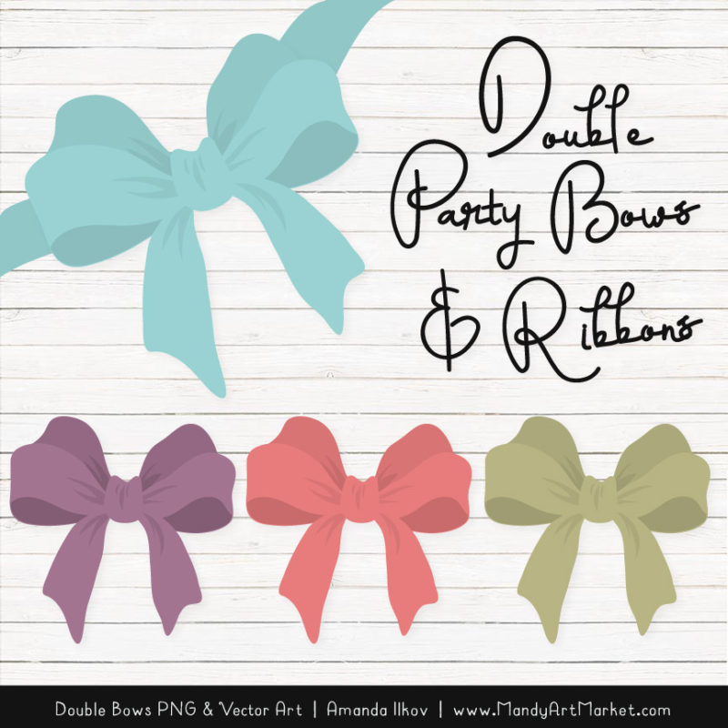 Free Vintage Party Bow Clipart