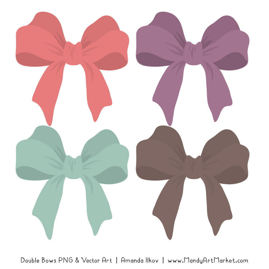 Free Vintage Girl Party Bow Clipart